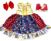 Mickey Mouse Disney dress Pluto Minnie Mouse Donald Duck birthday red blue Disney clothing Mickey Mouse Pink Momi girls boutique clothing