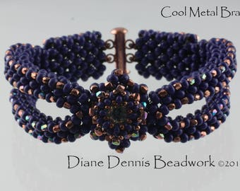 Kit for the Cool Metal Bracelet in Purple Metal Beads