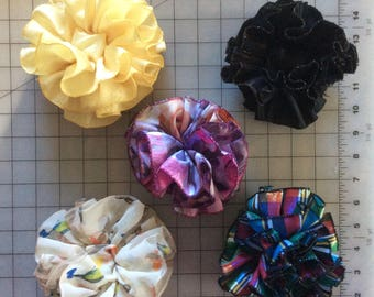 Set of Five Hand Crafted Hair Bows  Lot 02  Marked Down 30%