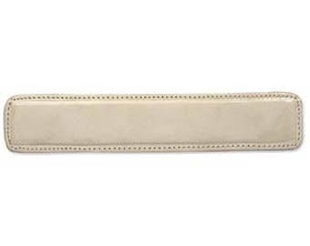 "CLEARANCE - Leather Bracelet Blank or Memory Cuff 1.25""X6.5"" - Tan Beige or Natural Leather over Moldable Metal"