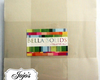 Bella Solids Layer Cake Wheat/Natural by Moda Fabrics SKU 9900LC 12