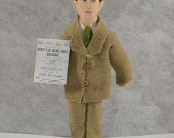 Ivor Novello Music Writer Collectible Miniature Doll British Entertainer