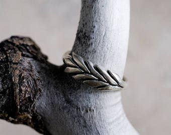 20% Off Memorial Day Sale Silver Wheatgrass Ring | Statement Ring | Nature Inspired Ring