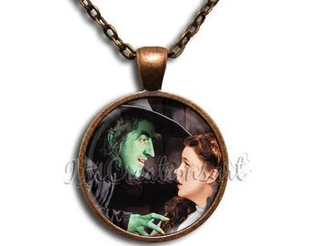 25% OFF - Wizard of Oz My Pretty Glass Dome Pendant or with Chain Link Necklace WZ108