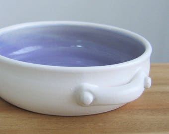 Ceramic Brie Baker in Lavender Purple, Stoneware Pottery Casserole Dish, Handmade Cheese Server, Gourmet Chef Gift