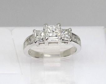 Engagement Ring Diamond Princess Cut