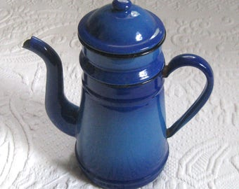 coffee pot with filter . blue ombre coffee pot with filter . french enamel coffee pot . enamel coffee pot . french country kitchen