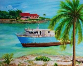 Ocean Art - Andros Island Bahamas - Wall Art - Island Art