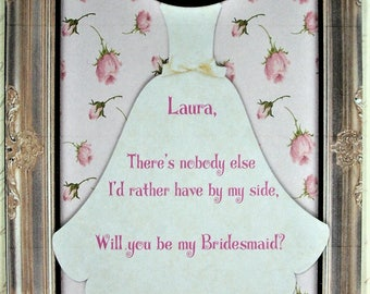 Will you be my bridesmaid - Custom - Personalized - A set of 8 notecards and envelopes - WYB 7765