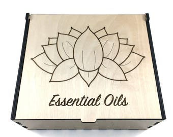 Lotus Essential Oil Box, 42 Slots, Essential Oil Storage, Essential Oil Case, Lotus Flower Box, Aromatherapy Storage, Oil Display
