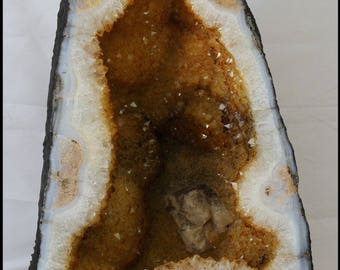 Citrine Geode Cathedral Church Gifts for Home Trendy Office Decor Wedding Gifts Rustic Home Decor Metaphysical Abundance Prosperity Stone