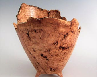 Cherry Burl Wood Bowl - Wood Bowl - Wood Turned Bowl - Artistic Bowl - Wooden Bowl - Wood Turning Bowl - Wedding Gift -Wood Centerpiece Bowl