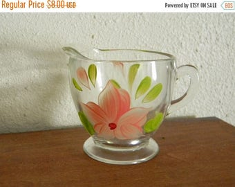 Close Out Sale Vintage  Bartlett and Collins Cream Pitcher Hand Painted