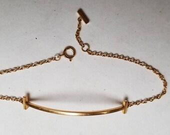 Tiffany & Co Smile T bracelet in pink gold - 18K