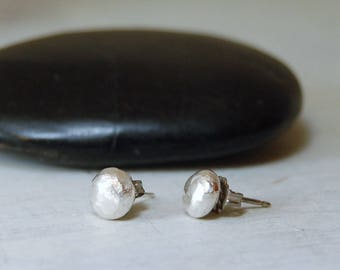 Sterling Silver Posts Recycled Silver Studs Simple Silver Post Earrings Silver Balls Earrings