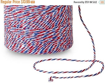 STOREWIDE SALE 240 Yards Eco Friendly Airmail Red White and Blue Divine Twine