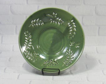 Ceramic Fruit Bowl - Decorative platter - Decorative Ceramic Bowl - Centerpiece - accent piece - Tabletop decor - Green Pottery Bowl