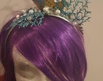 Seahorse, Seahorse headband, Reef, Seahorse fascinator, Tiki, Tiki Oasis, Pinup, Rockabilly, Ocean