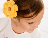 CLEARANCE Yellow Hair Clip Crochet Flower Hair Clip Crochet Barrette Sunshine Yellow Flower Barrette Yellow Barrette Spring Hair Clip Summer