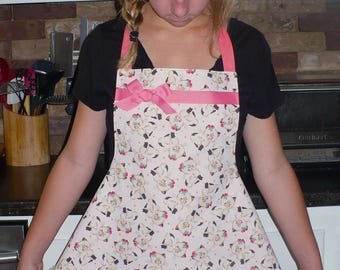 Siamese kittens teen girls apron