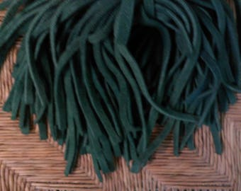 80 Hand Dyed Wool Rug Hooking Strips  Medium Green
