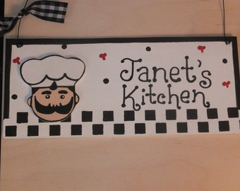 Kitchen Chef Wall Hanging - Personalized