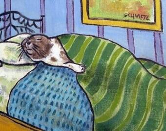 20 % off storewide Harp Seal Taking a Nap Animal Art Tile