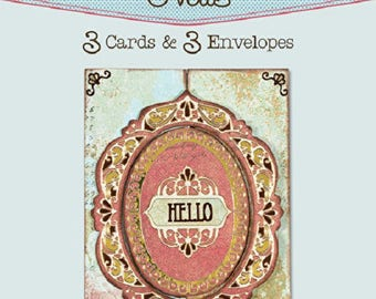 Interlocking Ovals Die-Cut Cards (3-Pack) by Hot Off The Press