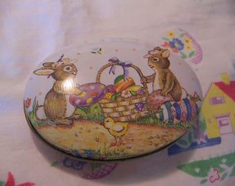 adorable little bunnies tin