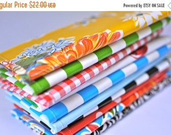 ON SALE checkbook covers (2) RETIRED Prints // Two Oilcloth Checkbook Covers - many colors