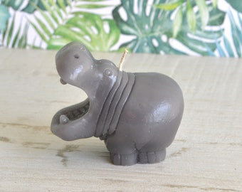 I Want a Hippopotamus for Christmas Hippo Candle