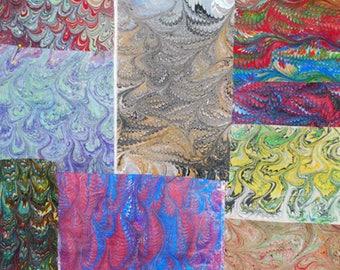 Hand-Marbled Grab Bag Goodies...Assorted Fabrics
