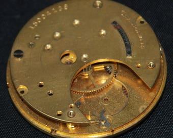 Gorgeous Vintage Antique Elgin Watch Pocket Watch Movement Porcelain face Steampunk SM 14