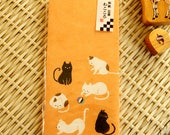 Kawaii Japanese Washi Paper Envelop - cute cats