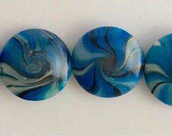 Polymer Clay Lentil Beads- # L2