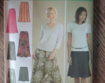 Simplicity Two Hour Skirt Pattern Size 14, 16, 18, 20