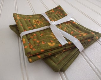 Set of 4 Quilted Coasters - Perfectly Seasoned (Set 10)