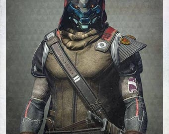 "Custom Made Cayde 6 from Destiny leather or other fabric of choice trim sleeved tunic with ""armor"" , belts, pants, cape and gloves costume"