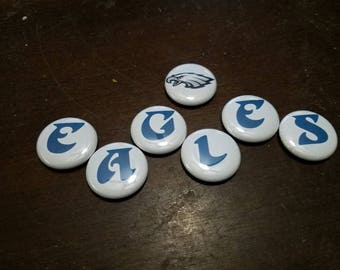 EAGLES 1 inch Button Set