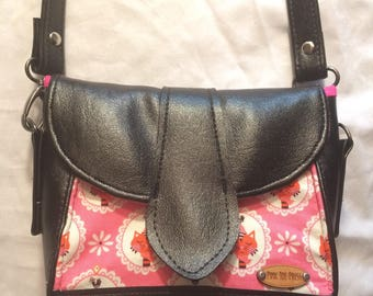 Mini Crossbody Purse // Pink Cat Cameo // Dollie Shoulder bag // Vegan Friendly Bag