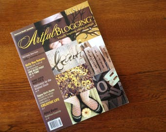 Somerset Studio Presents Artful   Blogging  Magazine   August - September - October  2010  Perfect for Craft Ideas Like New!