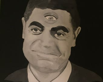 Will the Real Martian Please Stand Up? Twilight Zone Inspired Painting