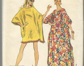Vintage Simplicity Pattern #5628-Jiffy 2 Main Piece Pattern-Misses & Women's Jiffy Caftan-One Size