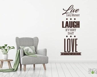 Live Laugh Love Wall Decal - Vinyl Sticker Art
