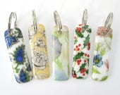 Patterned key ring, glass...