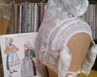 Dutch Lace Cap Volendam Netherlands Vintage 1950s Unworn Holland Folk Costume