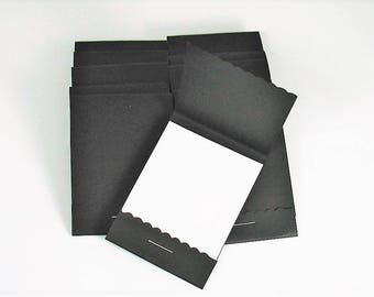 Matchbook Notepads Set of 20  Match Books Mini Note Pads in Black