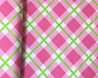 Perpetual Plaid Pink Color ~ Enchanted Collection by Jane Sassaman, Cotton Quilt Fabric