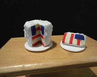 Miniature Independence Day Surprise Cake