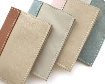 Passport Cover - Genuine leather, custom made in colors you choose